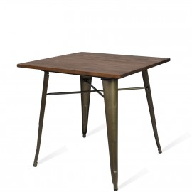 Tavolo Industriale Bistro Dark Legs Antique
