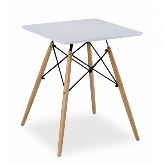 Tavolo James Quadrato Bianco (60 Cm.) - Tavoli da Cucina furnmod