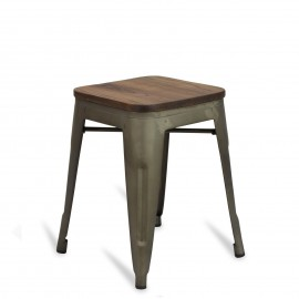 Sgabello Bistro Wood Antique 45cm