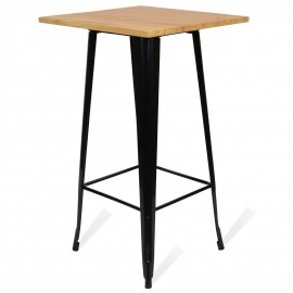 Tavolo industriale Alto Bistro Light Legs Black