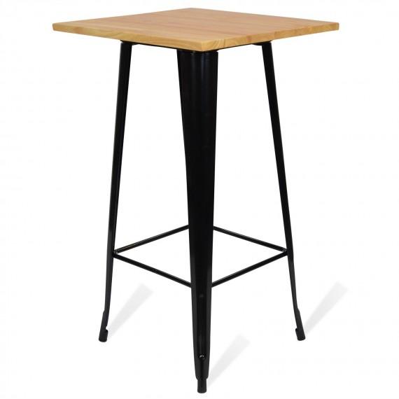 Tavolo industriale Alto Bistro Light Legs Black