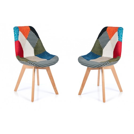 Set de 2 sedie verona patchwork for Sedie design verona