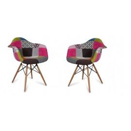 Set de 2 Sedie Patchwork Pink XL