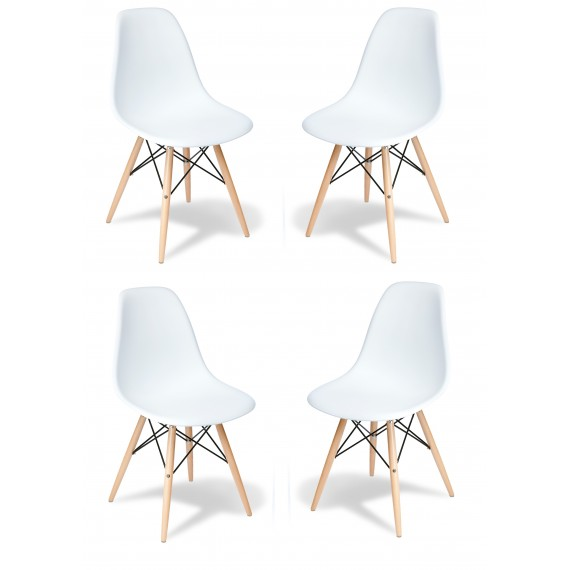 Pack 4 Silla James Wood New Edition