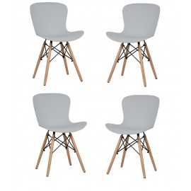 Set di 4 Sedie Tower Wood New Edition