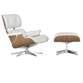 Replica della poltrona Eames Lounge Chair in legno di noce di Charles & Ray Eames
