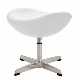 Replica ottomana della Egg Chair in pelle del designer Arne Jacobsen