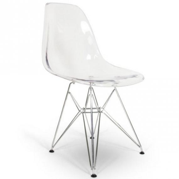 Sedia James Metal Transparente - Sedie da Disegno