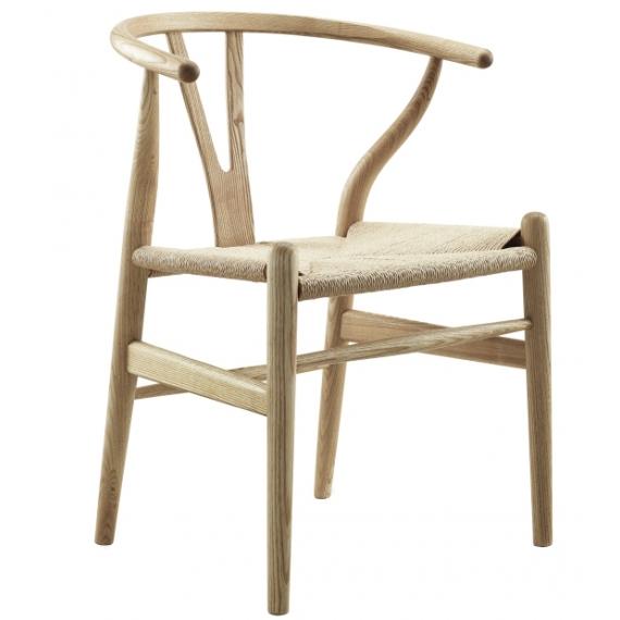 Replica della sedia Wishbone CH24 di fascia alta