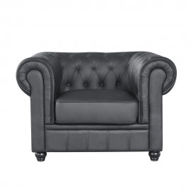 Poltrona Chesterfield Ecopelle 1 Piazza