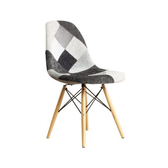 Sedia patchwork grigio sedie da disegno furnmod for Sedia design patchwork