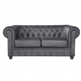 Divano Chesterfield Ecopelle 2 Piazze