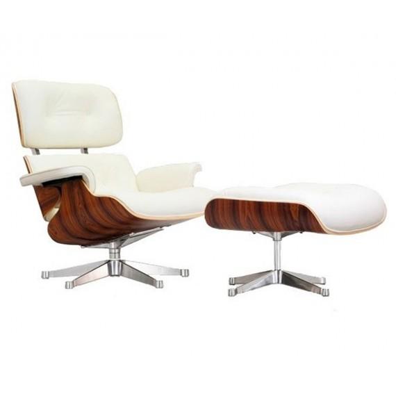 Replica Eames Lounge chair con piede cromato di Charles & Ray Eames