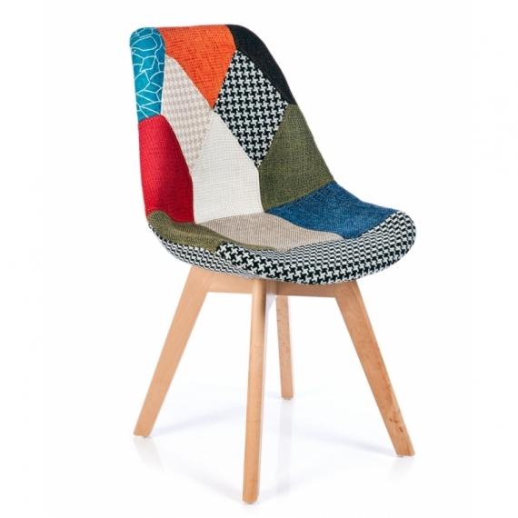 Sedia verona patchwork sedie da disegno furnmod for Sedia design patchwork