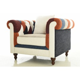 Poltrona Chesterfield Patchwork 1 Piazza