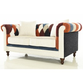 Divano Chesterfield Patchwork 2 Piazze