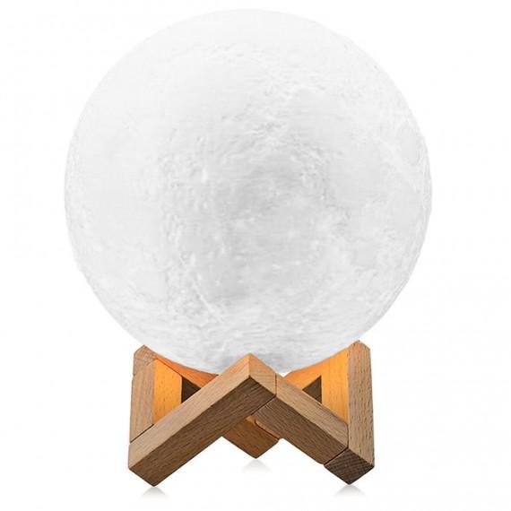 Lampada LED 3D Moon con diametro di 15 cm e connessione USB