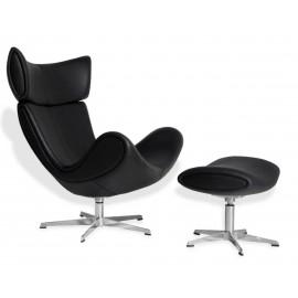 Poltrona design Emola Lounge Chair in Pelle Italiana