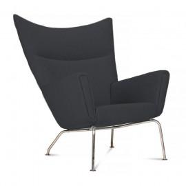 Wing chair replica by designer Hans J. Wegner
