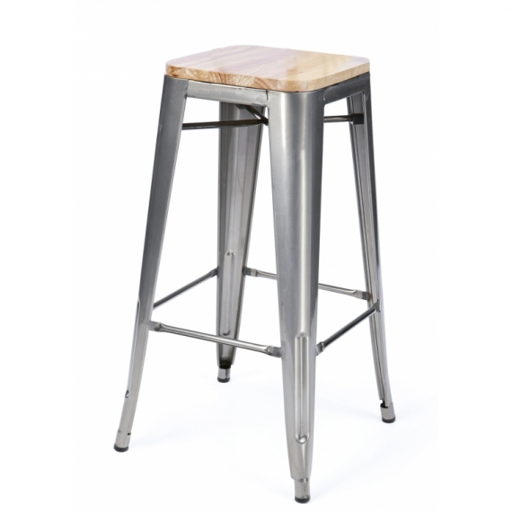 Sgabello Industriale Bistro Wood 76 cm