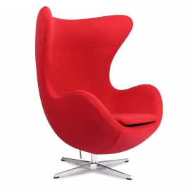 Egg Chair replica in cashmere del designer Arne Jacobsen