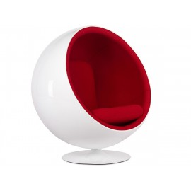 Poltrona Ball Chair in Franella e Fibra di Vetro