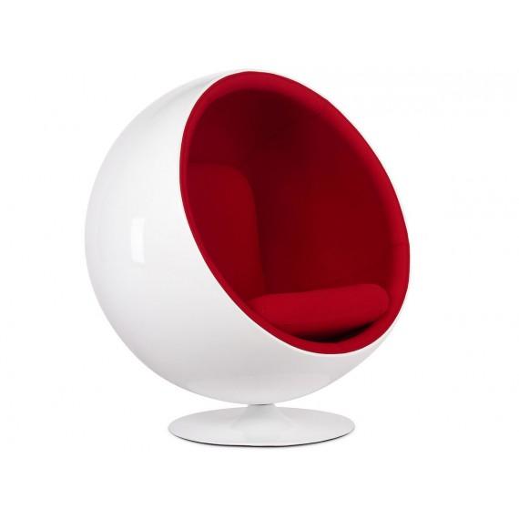 Poltrona Ball Replica in cashmere di Eero Aarnio