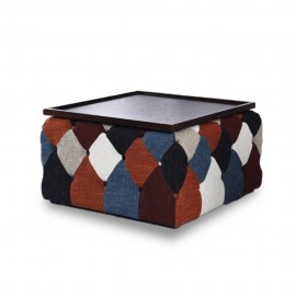 Tavolino da caffè in stile nordico patchwork Chesterfield