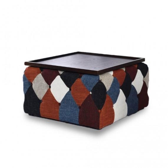 Tavolino da caffè in stile nordico patchwork Chesterfield