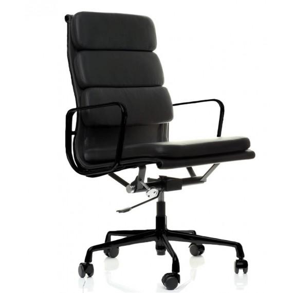 Replica della sedia da ufficio Soft Pad EA219 in alluminio nero