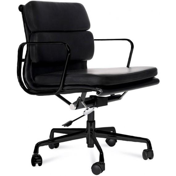 Replica della sedia da ufficio Soft Pad EA217 in alluminio nero