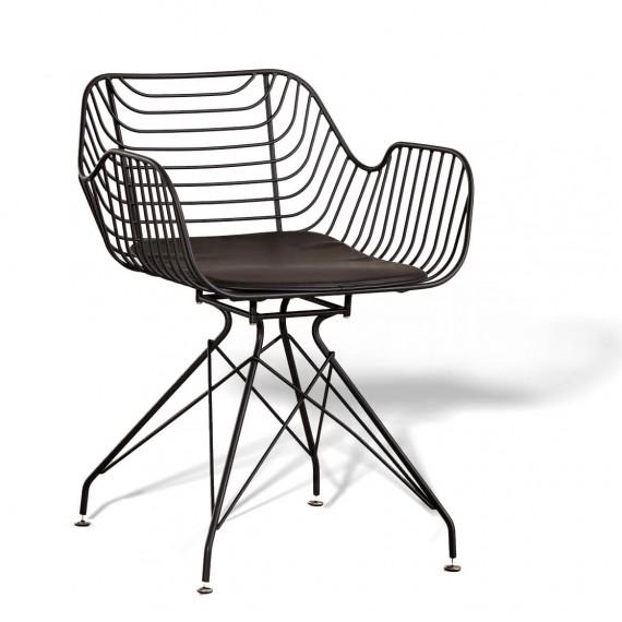 Sedia in metallo Meridian adatta per esterno