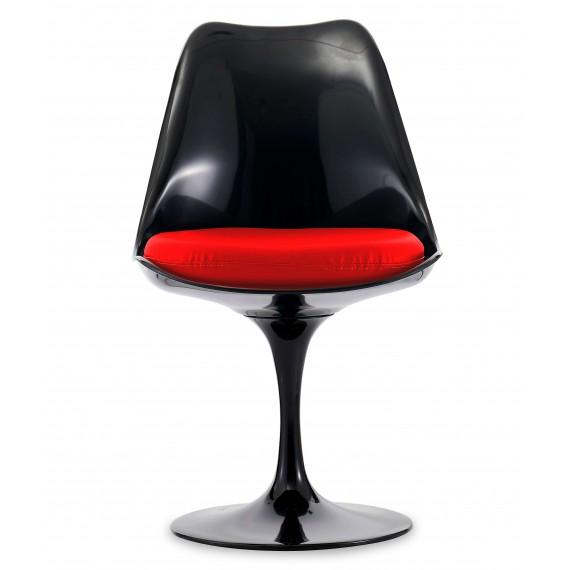 Replica della sedia Tulip chair tutto nera del famoso designer Eero Saarinen