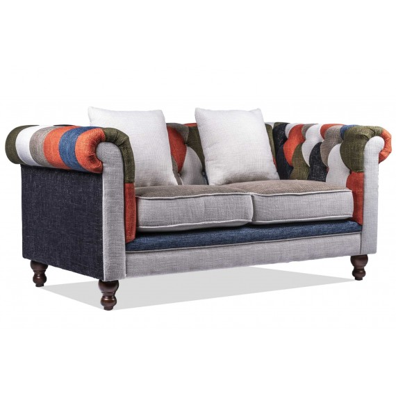 furmod Sofa Chesterfield Patchwork 2 Plazas