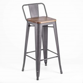 Sgabelli industriale Bistro LB Wood Antique