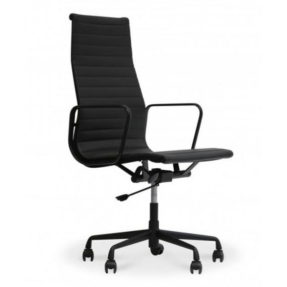 Replica Sedia da ufficio in alluminio EA119 in alluminio nero di Charles & Ray Eames.
