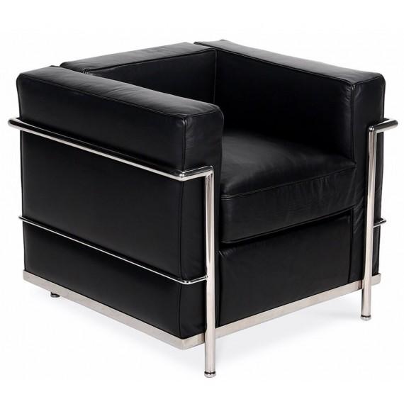 Ispirazione Beckham LC2 Poltrona in pelle anilina stile moderno
