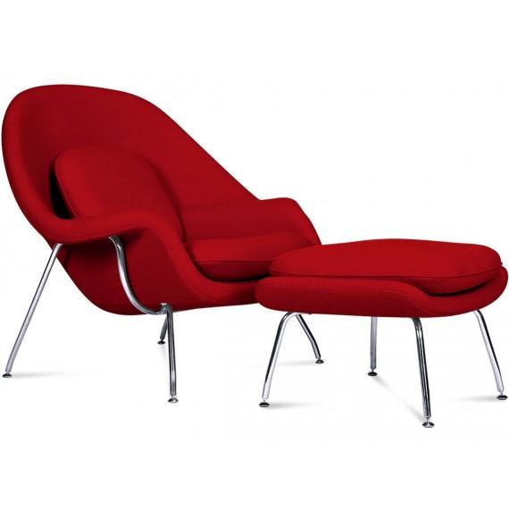 Replica della Womb Chair del designer Eero Saarinen