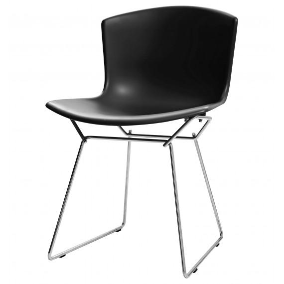 Sedia Ispirazione Bertoia con seduta in plastica e gambe in acciaio