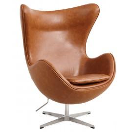 Replica Egg Chair in similpelle vintage invecchiata