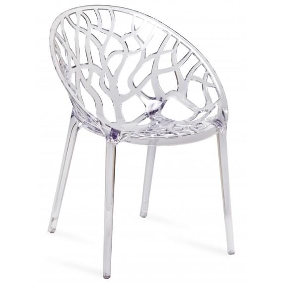 Replica trasparente della sedia da esterno in cristallo