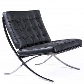 Replica della sedia Premium Barcelona in pelle italiana