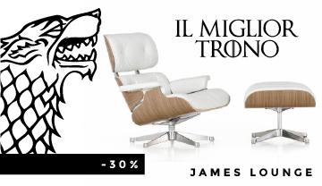 La poltrona più ambita sulla quale tutti vorrebbero sedersi: la James Lounge Chair