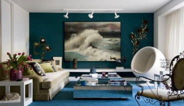 Blu petrolio nel design d'interni